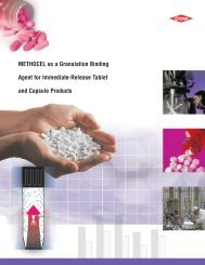 METHOCEL as a Granulation Binding Agent for Immediate-Release ...