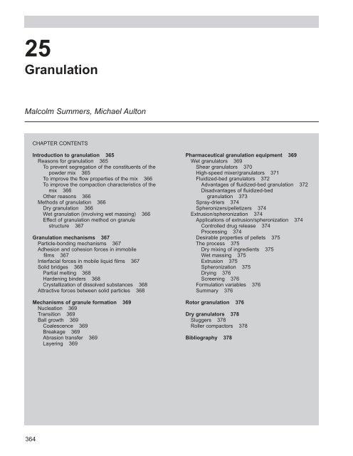 granulation theory pdf