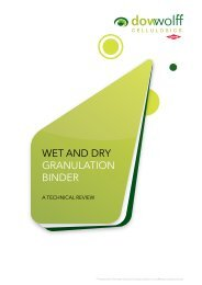 Wet and dry granulation binder - The Dow Chemical Company