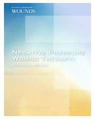 Negative Pressure Wound Therapy: A Clinical Review - Wounds