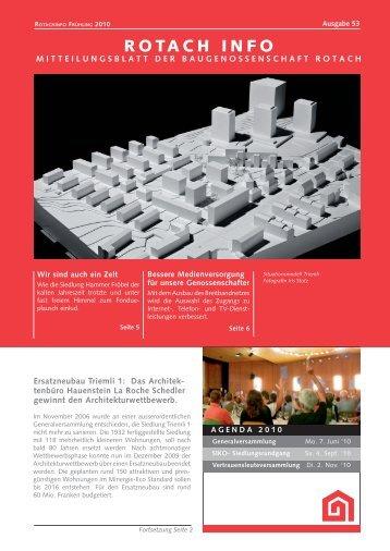 Bessere Medienversorgung für unsere ... - Baugenossenschaft Rotach