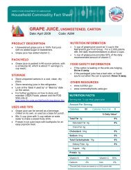 NUTRITION FACTS - Food and Nutrition Service