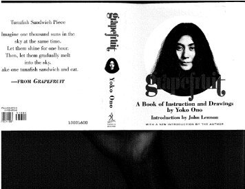 Grapefruit: A Book of Instructions and Drawings by Yoko ... - Monoskop
