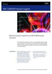 EMC Clariion Proactive Support