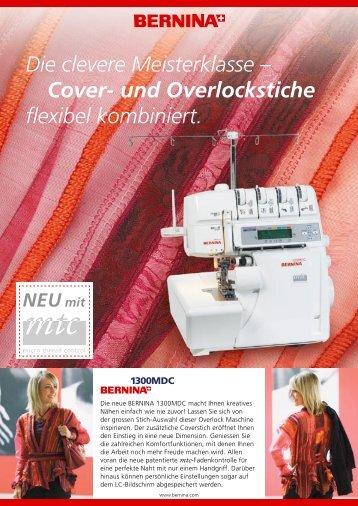 Cover- und Overlockstiche flexibel kombiniert.