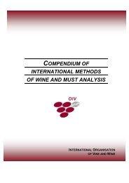 compendium of international methods of wine and must analysis ...