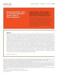 Plasmacytoid Dendritic Cells in the Tumor ... - Neoplasia