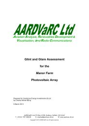 Glint and Glare Assessment for the Manor Farm Photovoltaic Array