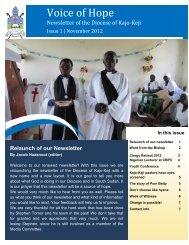 volume 001 November 2012 - Diocese of Kajo Keji