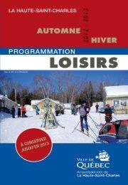programmation loisirs de La Haute-Saint-Charles - Ville de Québec