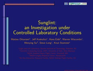 Sunglint: an Investigation under Controlled ... - Modis - Nasa