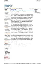 New health centre for Thetford Page 1 of 2 EDP News 01/12/2007 ...
