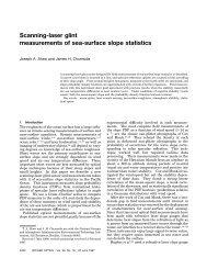 Scanning-laser glint measurements of sea-surface slope statistics