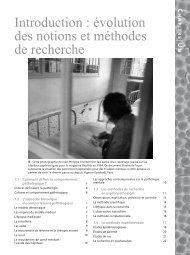 Introduction : évolution des notions et méthodes de ... - Pearson