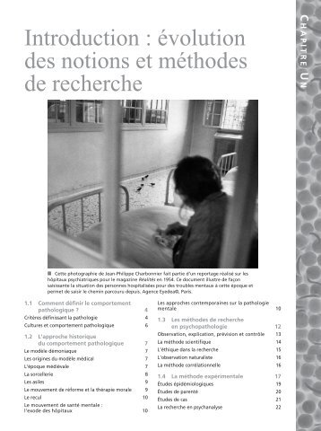Introduction : évolution des notions et méthodes de ... - Pearson