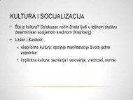kultura i socijalizacija 1