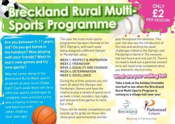 Breckland Rural Multi- Sports Programme What are you waiting for!