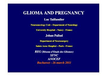 GLIOMA AND PREGNANCY
