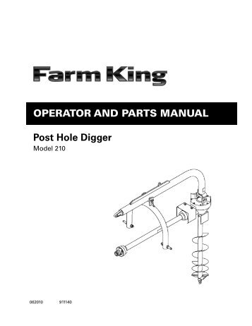 The following parts pages are for Danuser Model F8 Diggers