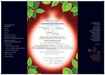 Invitation naipunnya - Naipunnya Public School Kochi