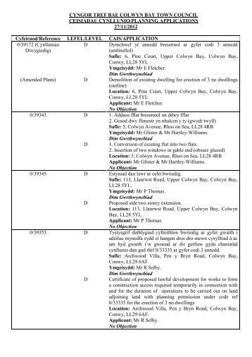Bilingual Plan Apps 27.11.2012.pdf - Bay of Colwyn Town Council