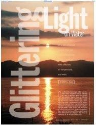 Glittering light on water (Optics & Photonics News