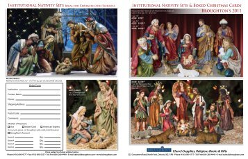 Institutional Nativity Sets & Boxed Christmas Cards - Broughton's