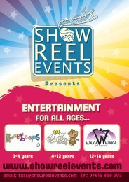 party pack - Showreel Events