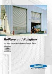 Novoferm Rolltore und Rollgitter - RotiTech AG