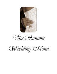 Wedding Menu - Redstone Arsenal MWR