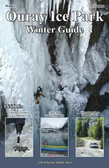 2012 Ouray Ice Park Winter Guide - The Ouray Ice Park
