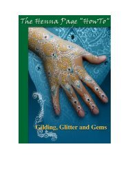 Gilding, Glitter and Gems - The Henna Page