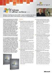 Microsoft Small Business Server 2003 Datenblatt