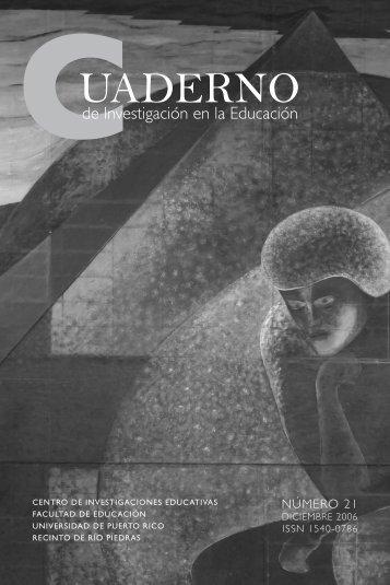 Cuaderno de Investigación en la Educación - Centro de ...