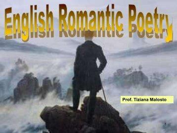 English Romanticism - Liceo Quadri