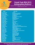 Sneak Peek BEA 2013 Autographing Authors! - Page 2