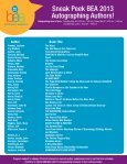 Sneak Peek BEA 2013 Autographing Authors! - Page 3