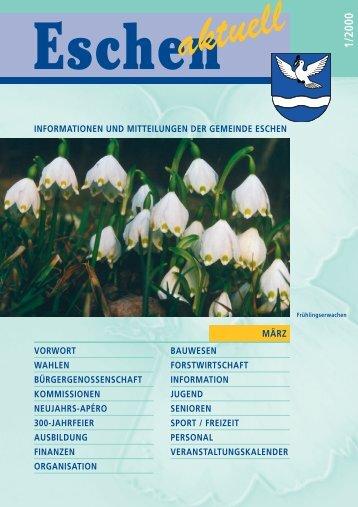 Eschen Info 2000/1