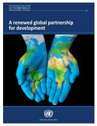 A renewed global partnership for development