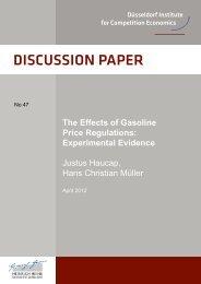 The Effects of Gasoline Price Regulations - DICE - Heinrich-Heine ...
