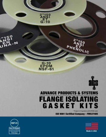 flange isolating gasket kits - Advance Products & Systems, Inc.