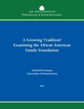A Growing Tradition? Examining the African ... - Aspen Institute
