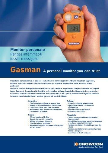 22862 CROWCON gasman ITALIAN - Delta Strumenti S.r.l.