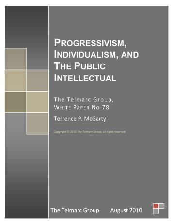 progressivism, individualism, and the public ... - Telmarc Group