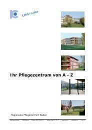 Ihr Pflegezentrum von A - Z - Regionales Pflegezentrum Baden