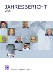 Jahresbericht 2006 (1241KB) - Regionales Pflegezentrum Baden