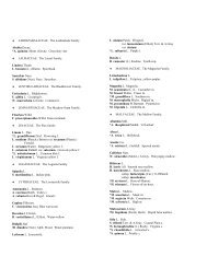Dicot Families Lardizabalaceae through Rosaceae - Herbarium
