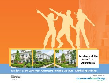 Residence at the Waterfront Apartments Printable Brochure ...