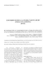CONTRIBUCIONES A LA FLORA VASCULAR DE ANDALUCÍA ...