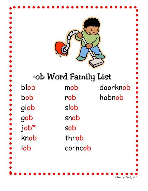 ob word family set little book lane